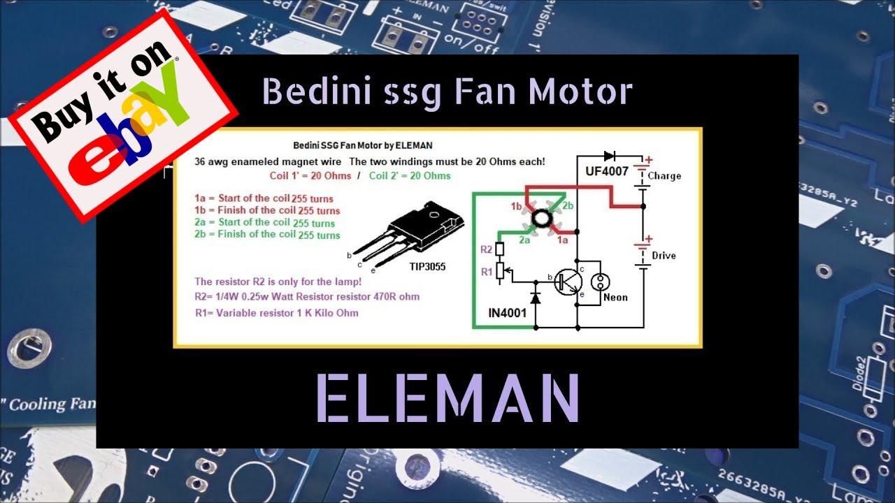 bedini fan motor by eleman right now on ebay!  bedini simple science fair motor thanks