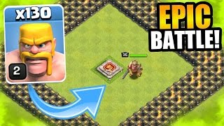 [PLAY] Clash Of Clans - ULTIMATE TROLL CHALLENGE!! - 130 BARBARIANS vs BARBARIAN KING!