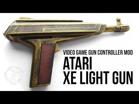 ATARI 2600 XE LIGHT GUN MOD: DIY SCI FI WEAPON PROP
