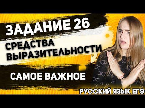 ЕГЭ Русский Язык 2021   Задание 26   Изобразительно-Выразительные средства