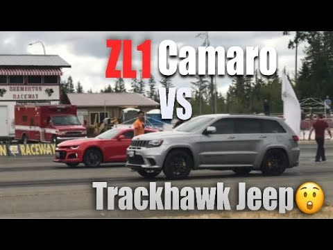 Track 800 Hp Jeep Trackhawk Races Zl1 Camaro Youtube