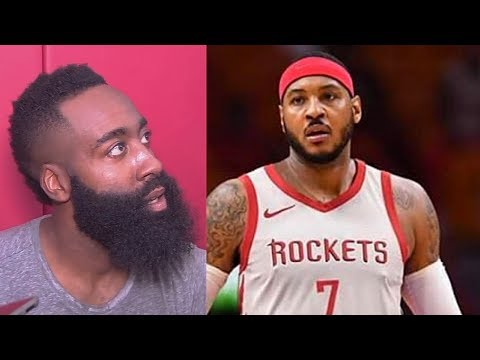 James Harden Reacts To Carmelo Anthony Joining Rockets!