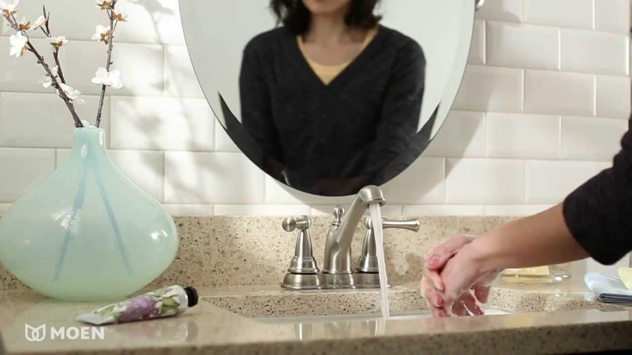 Sage™ 2-Handle Centerset Bathroom Sink Faucet | Moen Features ...