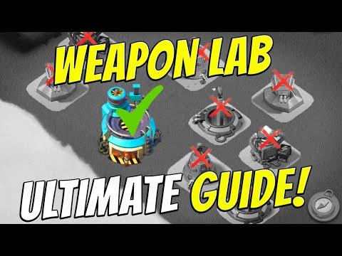Boom Beach Weapon Lab Guide + DrT Volcano Apr 25/2018