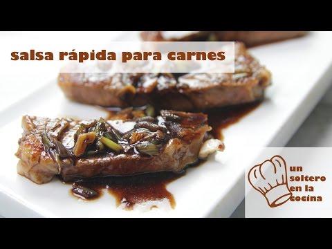 Salsa ultrarápida para carnes