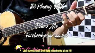 KARAOKE - LẠC TRÔI - Video Lyric Acoustic - THẾ PHƯƠNG Cover