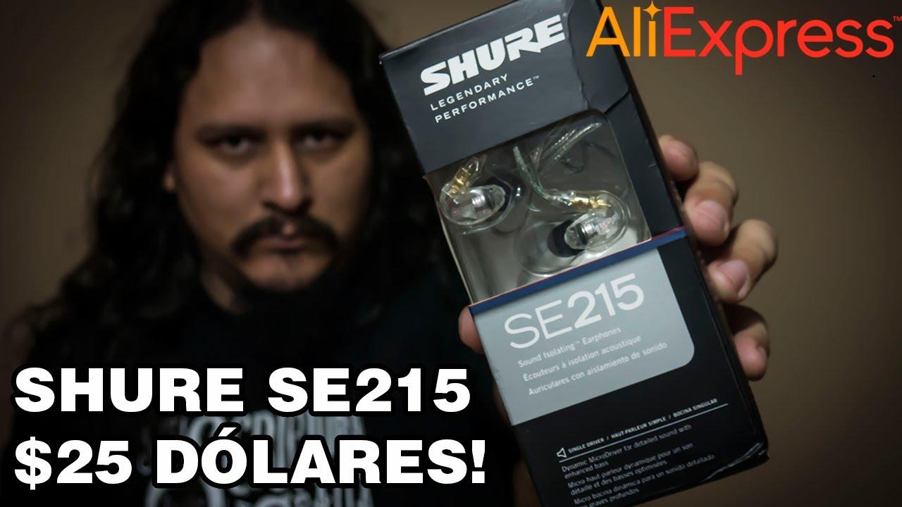 Audifonos In Ear Shure SE215 a 25 $ !!!! / [Aliexpress para Músicos #1]