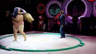 Little Girl Taps Sumo Wrestler