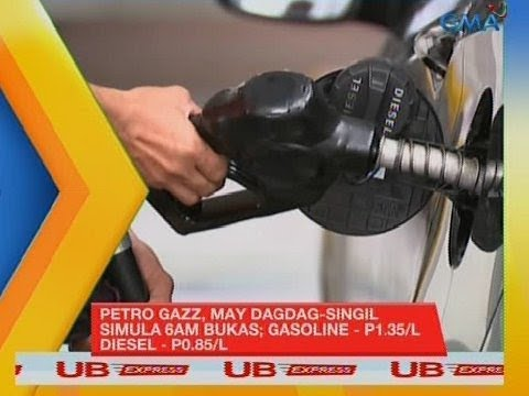 UB Express: Petro Gazz, May Dagdag-singil Simula 6 A.m. Bukas; Gasoline - P1.35/L, Diesel - P0.85/L