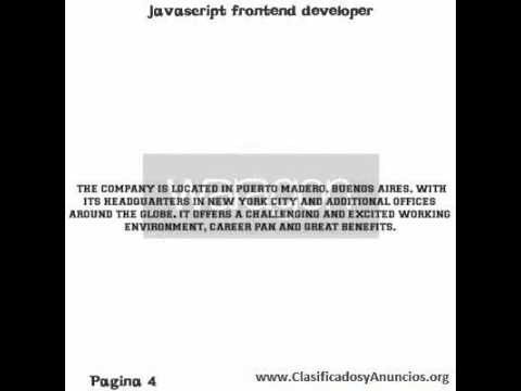 javascript frontend developer Fecha: 10 de agosto de 2011