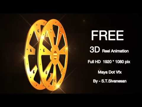 Free Film Reel Animation |3D|Movie|Gold|Full HD |Green VideoFootage