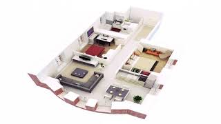Small House Design With 2 Rooms