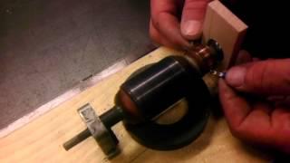 Pokus se starým rotorem z úhlové brusky #1