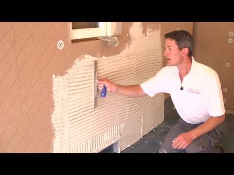 The best way to apply render and plaster to wood fibre insulation.