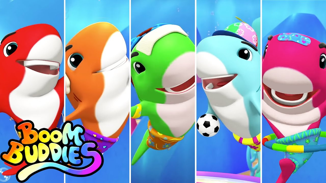 Five Little Baby Sharks | Baby Shark Song For Kids | Nursery Rhymes and Children Song | Boom Buddies