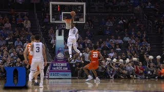 Duke's RJ Barrett With Two Slams To Close Out Game