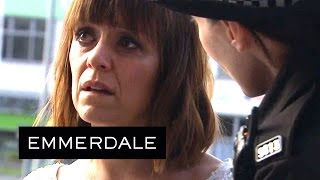 Emmerdale - Rhona Arrives at the Police Station to Report Pierce
