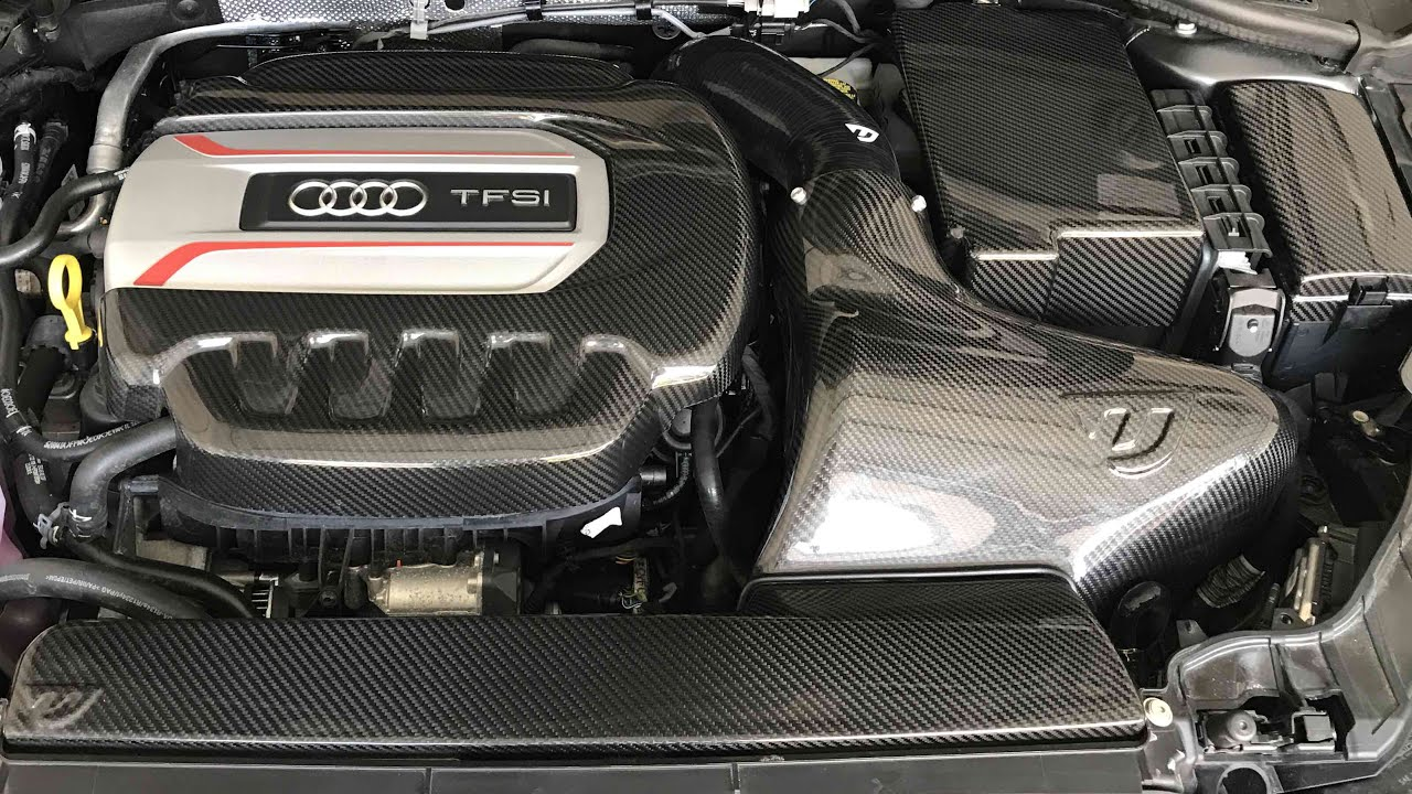Audi S Carbon Fibre Engine Bay YouTube - Audi s3 engine