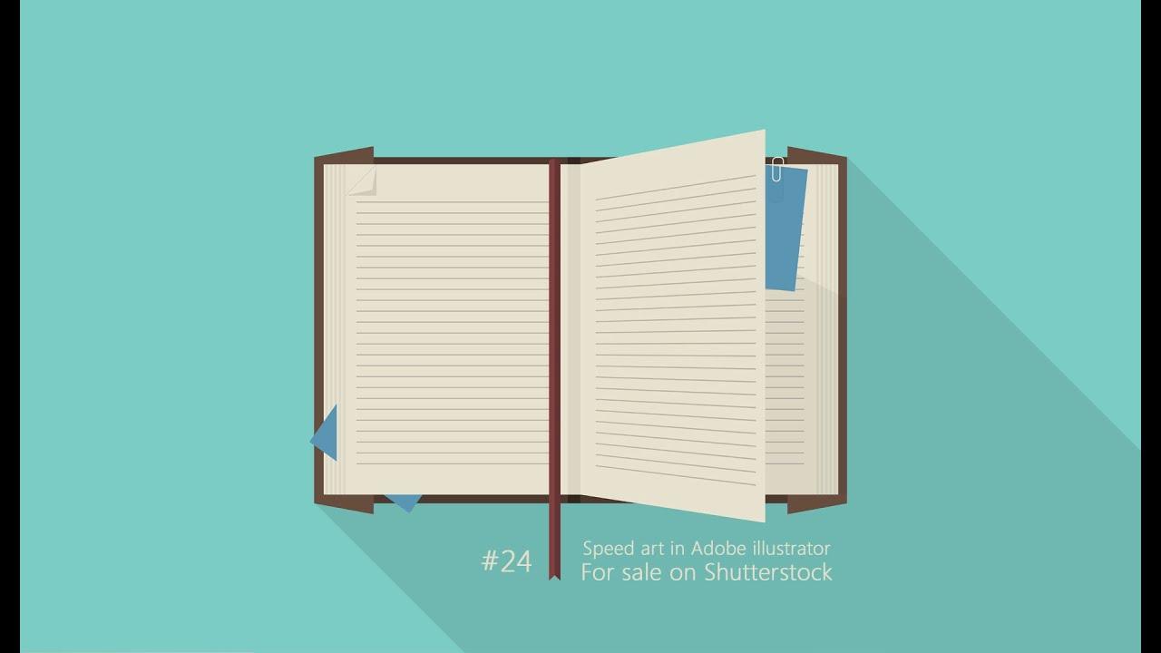 speed art opened notebook  flat  in adobe illustrator notebook clipart png notebook clipart free
