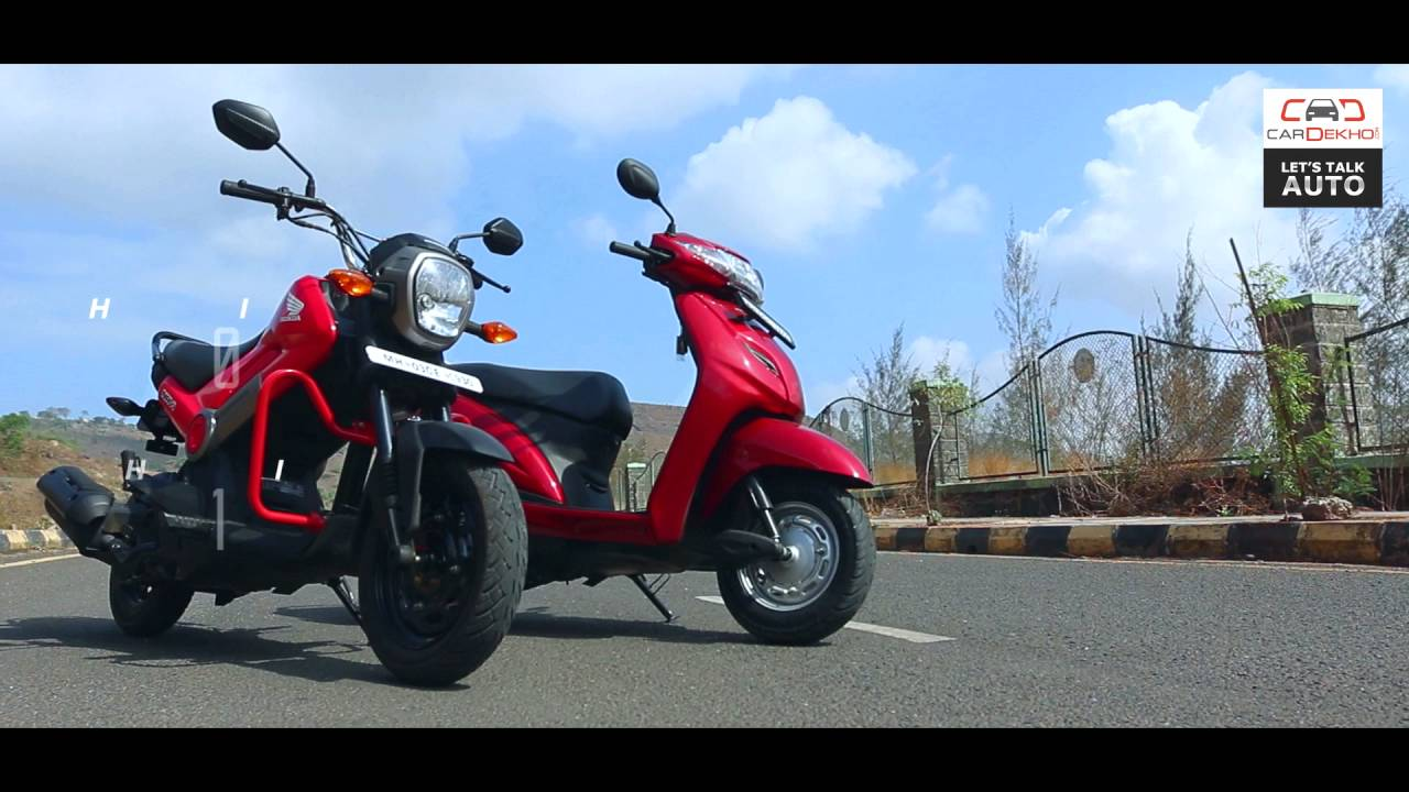 Honda Navi Vs Honda Activa Scooter Comparison Bike Dekho Youtube