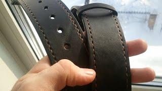 Как рождаются кожаные ремни ручной работы? КДМ Булат.