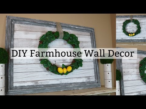 DIY Farmhouse Wall Decor | Faux Wood Wall Decor