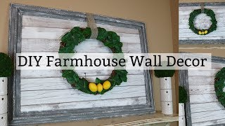 DIY Farmhouse Wall Decor | Faux Wood Wall Decor
