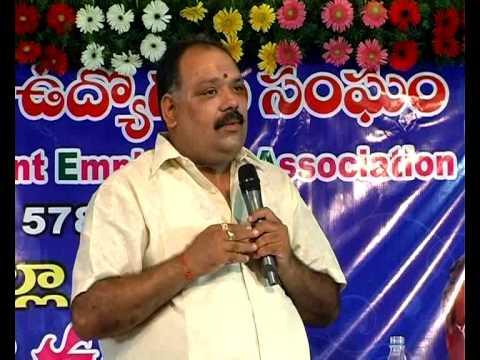 APGEA Krishna District opening meeting speech by Sri K.R.Suryanarayana on 26-09-12 Video-2