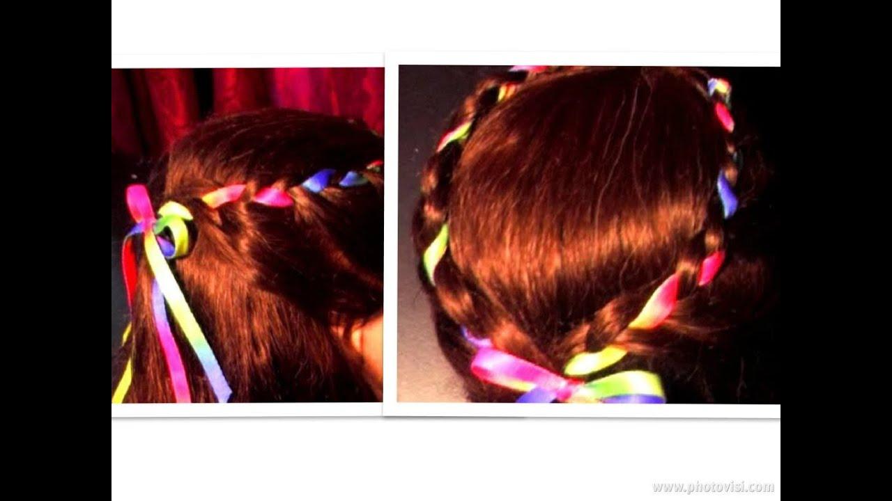 ribbon french braid braided