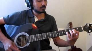 Nenjukkul Peythidum Intro Chord/Rhythm strumming pattern detailed, slow, tabs for C and A pitch