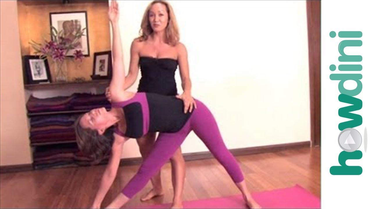 Ashtanga Yoga Triangle Pose Or Utthita Trikonasana Youtube