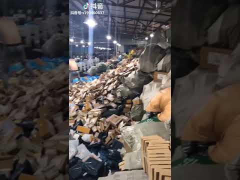 China SORTING CENTRE in Shenzen after massive 11.11 sale 2018.