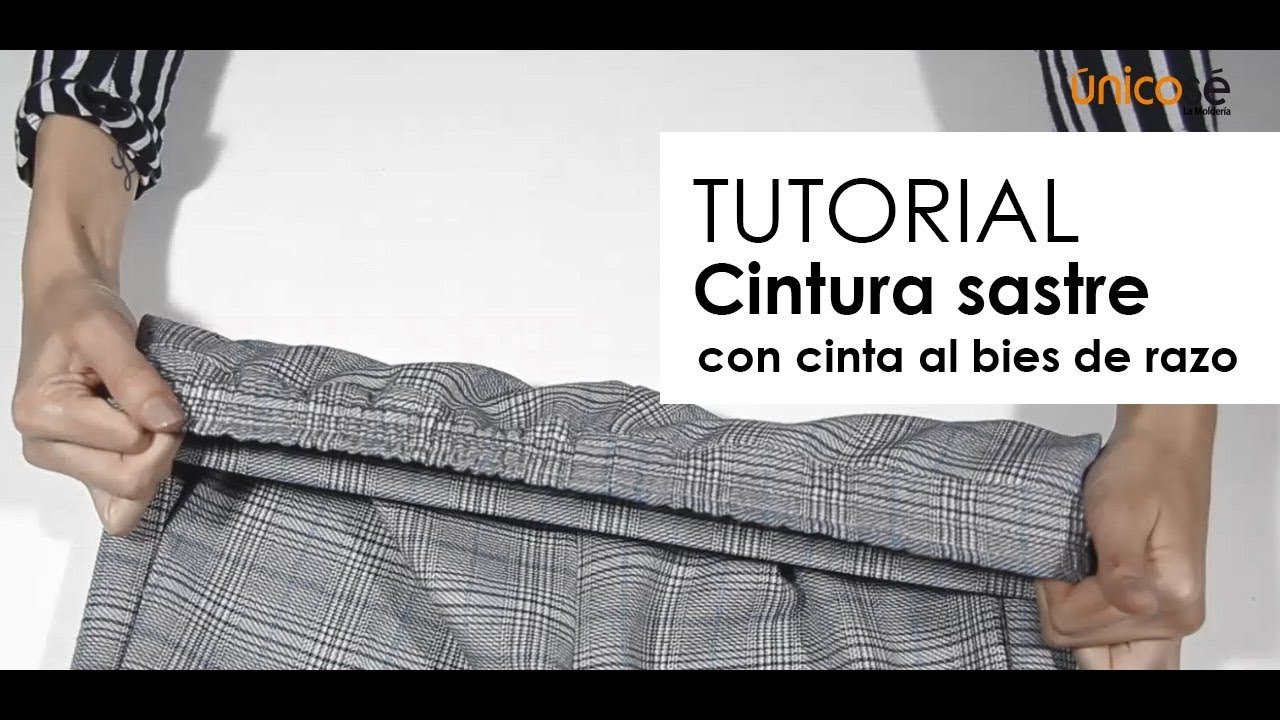 Diy Tutorial Costura : Cintura sastre con cinta al bies. - YouTube