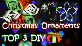 Top 3 Diy Christmas Ornaments - How To Make Easy And Beautiful Christmas Decorations