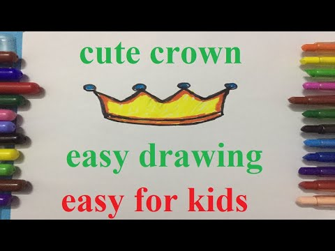 How To Draw A Crown Step By Step Easy For Beginners/Kids.Simple Crowns Drawing Tutorial.របៀបគូរម្កុដ