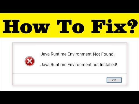 How To Fix Java Runtime Environment Not Found/ Installed Error On ...