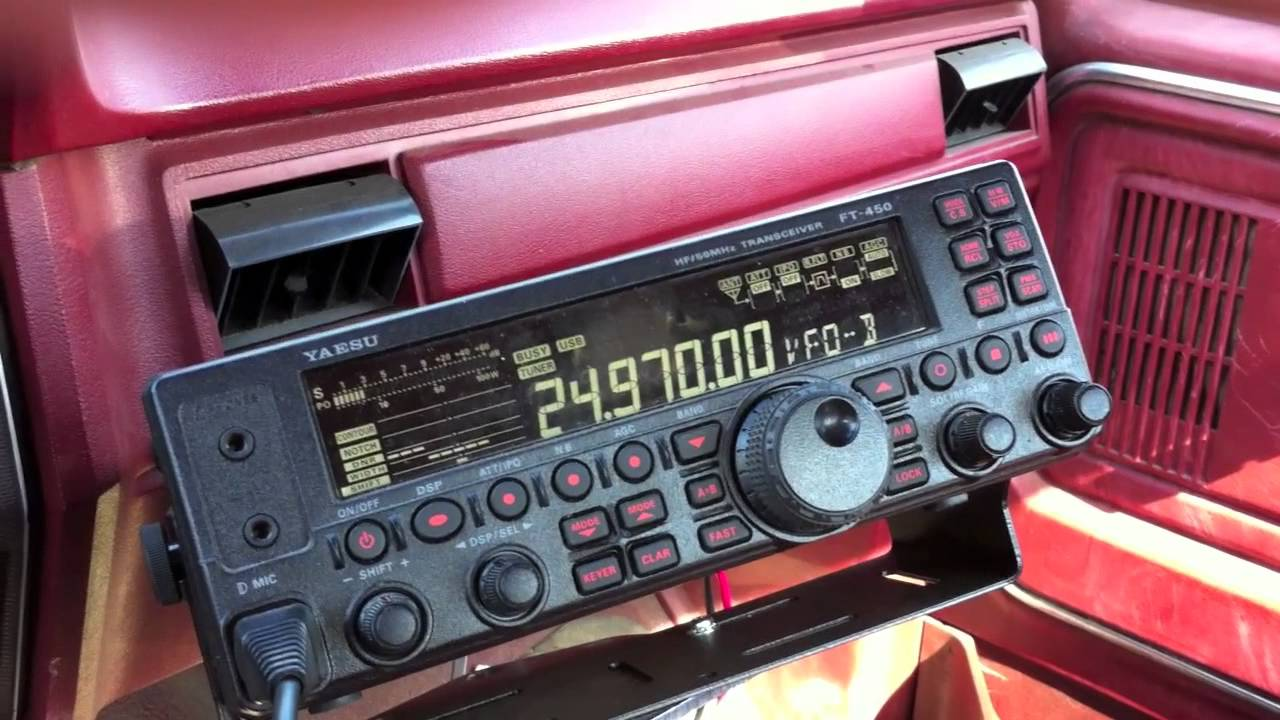 12 Meters Mobile Yaesu Ft 450 Youtube
