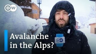 Alpine snowfall: Coping with the risk of avalanche in the Alps | DW News