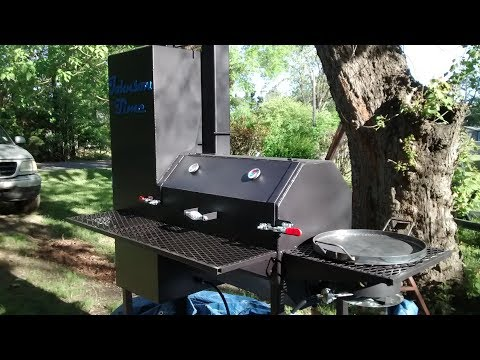 Custom reverse flow bbq smokerfor sale