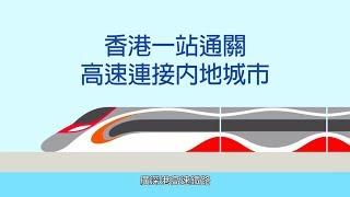 西九龍站乘客路線模擬片段