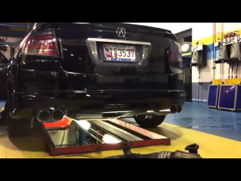 acura tl obx quad exhaust youtube