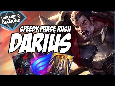 SPEEDY PHASE RUSH DARIUS - Unranked To Diamond - Ep. 14 | League Of Legends