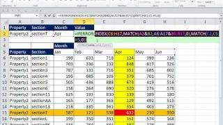 Excel Magic Trick 781: Three Way Lookup: INDEX and MATCH and Concatenated Ranges & Cells
