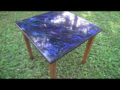 Blue Marble Epoxy Table
