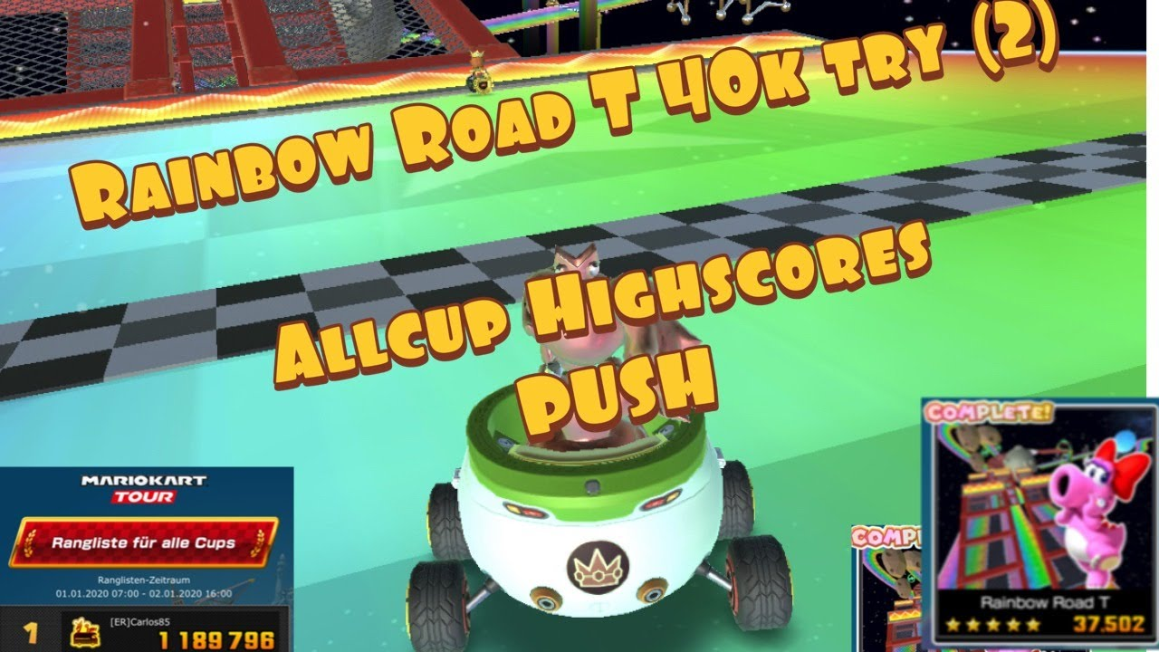Mario Kart Tour Rainbow Road T 40k Try 2nd Part
