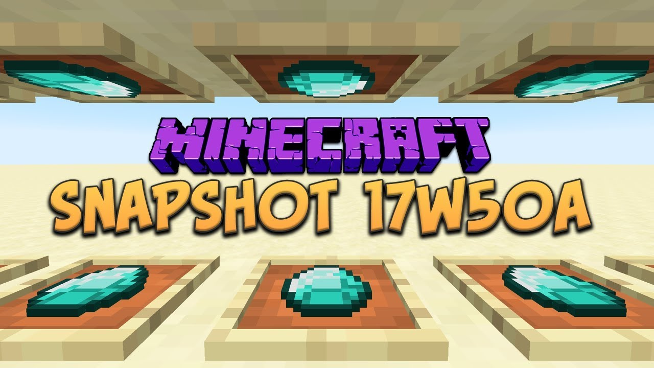 Minecraft 1.13 Snapshot 17w50a GHOST BLOCKS REMOVED! REJOICE! And ...