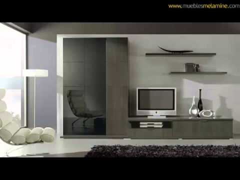 Muebles de sala en melamine - YouTube