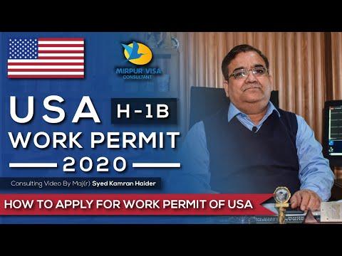 Work Permit USA 2020 || Free H-1B Visa || Free Work Permit || Work Permit Usa