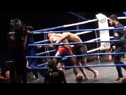 Hubert Geven (The Colosseum) VS Agy Sadari (Sport Vision) voor het Europees kampioenschap -70 kilo