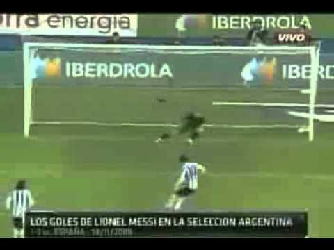 Los 30 Goles del crack Lionel Messi en la Seleccion Argentina